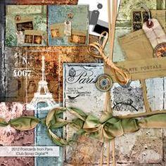 Club Scrap Digital - Postcards from Paris Digital Collection #2476