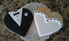 Bride and Groom cookies (wedding cookies bride and groom) Fancy Cookies, Valentine Cookies, Cut Out Cookies, Iced Cookies, Cupcake Cookies, Sugar Cookies, Wedding Shower Cookies, Wedding Cake Cookies, Wedding Cake Pops