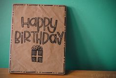 great idea! Make homemade birthday wrapping paper to have on hand.