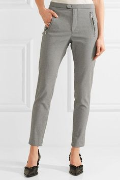 Black and white cotton-blend Concealed hook and zip fastening at front 61% cotton, 35% polyamide, 4% elastane  Dry cleanSmall to size. See Size & Fit notes.