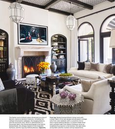 Khloe Kardashian's lovely home as seen in Architectural Digest