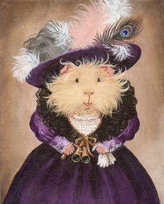 Ingrid Pumpernickel the Victorian Guinea Pig Portrait