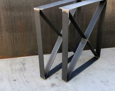 Metal Table Legs Flat bar Squared by SteelImpression on Etsy