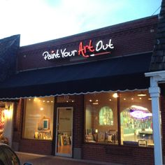 Paint Your Art Out studio at 10 S Broadway in Downtown Edmond will help you discover your inner artist 405/513-5333