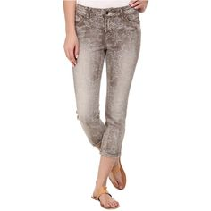 Liverpool Stretch Jacquard Michelle Capris Women's Capri, Beige ($20) ❤ liked on Polyvore featuring pants, capris, beige, cropped capri pants, brown pants, capri pants, brown stretch pants and stretch capris
