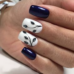 Мои закладки unhas artísticas, unhas de gel, cuidado de las uñas, diseños d Nail Designs Spring, Nail Art Designs, Nails Design, Nagellack Trends, Beautiful Nail Designs, Nagel Gel, Flower Nails, Creative Nails, Blue Nails