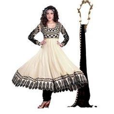 georgette off white color designer dress