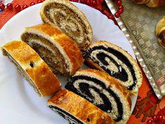 Bejgli (beigli) mákos, és diós Hungarian Cuisine, French Toast, Cooking Recipes, Minden, Bread, Breakfast, Hungary, Kitchen, Christmas