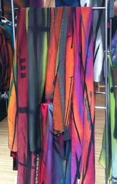 Bought one of these handpainted scarves today at the Cherry Creek Arts Festival.