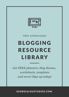 Get FREE blogging resource downloads including worksheets, WordPress themes, Blogger templates, checklists, planners, templates and more!  via @admin2692