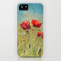 Fantasy poppies iPhone & iPod Case by Guido Montañés - $35.00