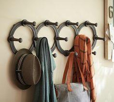 Accordian Hanging Coat Rack #potterybarn