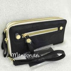 I just listed NWT Steve Madden Black Double Zip Around Wristlet Wallet… ($35 FREE SHIPPING) on Mercari! Come check it out!