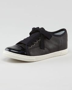 X1CYW Lanvin Leather Low-Top Sneaker #NM fall trends