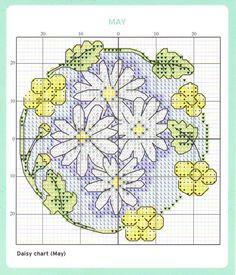 May Cross Stitch Chart