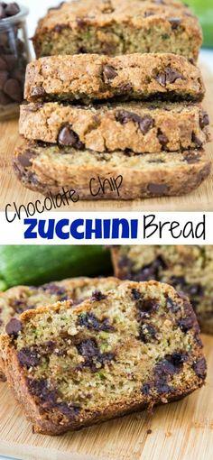 Zucchini Bread Muffins, Chocolate Chip Zucchini Bread, Gluten Free Zucchini Bread, Best Zucchini Bread, Zucchini Bread Recipes, Cinnamon Zucchini Bread, Zuchinni Bread, Banana Bread, Zucchini Desserts