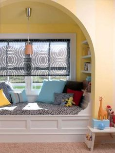 Roller shades are perfect options for children and come in a variety of fun, whimsical designs.