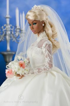 Here Comes The Bride Barbie Barbie Bridal, Barbie Wedding Dress, Wedding Doll, Barbie Dress, Barbie Clothes, Wedding Dresses, Barbie Doll, Fashion Royalty Dolls, Fashion Dolls