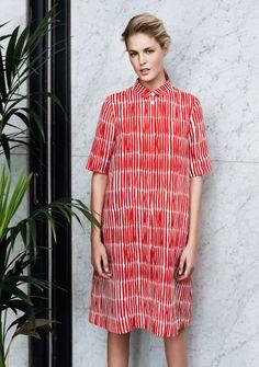 Marimekko Linen line for SS15 Pattern by Finnish artiste Kustaa Saksi / #MIZUstyle