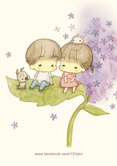 Amy and Tim Illustration Girl, Watercolor Illustration, Cute Images, Cute Pictures, Blue Nose Friends, Dibujos Cute, Kawaii Cute, Cute Cartoon, Cute Drawings
