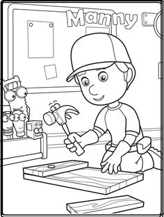 Handy Manny coloring pages for kids printable free | Coloring pages ...