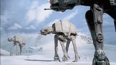 AT-AT Walkers in action.