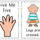 """This cute set of mini-posters illustrates the age-old """"Give Me Five"""" behavior management trick. When making visual reminders like this, I think tha..."""