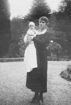 Alice of Battenberg and infant son Prince Philip of Greece. 1921.