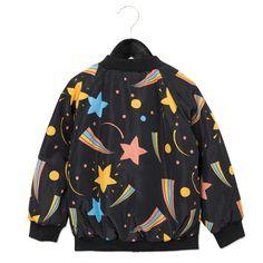 Kinderjas Mini Rodini Space AOP Black