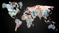 cool currency world map!