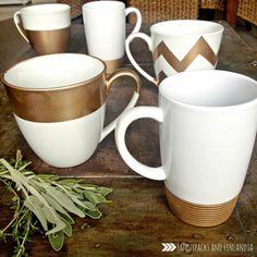 Gold Mugs