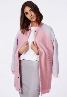 Lexy Longline Wool Coat Pink