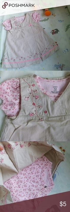 Matching set 12M girl Like new set, very delicate. No stains, no flaws. Carter's Matching Sets