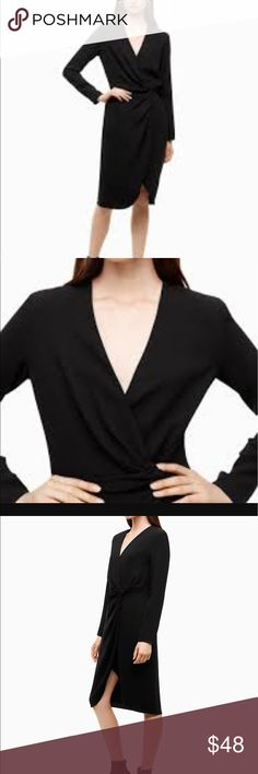 Aritzia babaton drape v neck dress NWOT - have both black and blue - naturally drape with special material from Japan and it is very flattering and comfortable. Aritzia Dresses