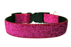 Hot Pink Dog Collar 1 Pink Glitter Dog Collar by Dogologie on Etsy, $18.00
