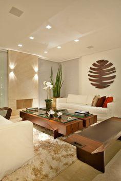 einrichtungsideen wohnzimmer möbel modern trendy beleuchtung lichter