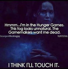 Katniss channeling her inner Dory. ~ The Hunger Games - Community - Google+