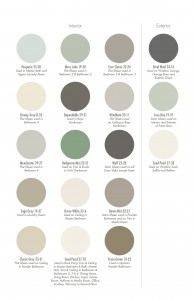 Pratt & Lambert color palette used by Erika Powell for Coastal Living Ultimate Beach House.