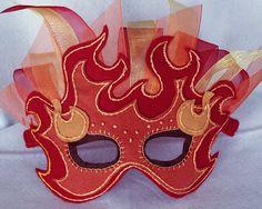 Fire Mask PDF Pattern por oxeyedaisey en Etsy