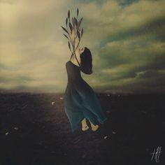 """""""Growing Season"""" Fine Art Photograph Print https://www.etsy.com/listing/239862503/surreal-portrait-photograph-flowers"""