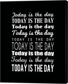 Great Art Now - Today is the Day 15 by Louise Carey Canvas Wall Art
