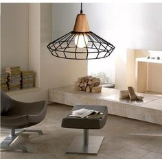 Add elegance and style to your home, office, or restaurant with outstanding modern wrought iron hanging cage light.Made from Eco-friendly wood & wrought iron.Suitable for Voltage: 90 - Cage Pendant Light, Cage Light, Pendant Chandelier, Pendant Lighting, Wall Mounted Lamps, Led Wall Lamp, Wall Sconces, Chandelier For Sale, Chandelier Chain
