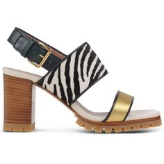 Marni Sandals ($820) ❤ liked on Polyvore featuring shoes, sandals, gold, geometric shoes, marni shoes, rubber sole shoes, leather buckle sandals and real leather shoes