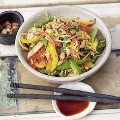 Amaranth-Gemüse-Wok