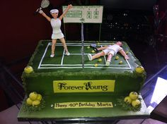Tennis 40th birthday cake by miltnmo, via Flickr