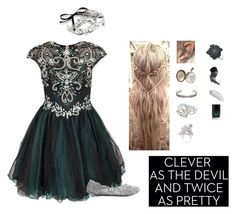 clever as the devil by wandsandwitches on Polyvore featuring Forever Unique, Charlotte Russe, REGALROSE, Bernard Delettrez, Alexander McQueen, Workhorse, Elizabeth Arden, Butter London and Accessorize