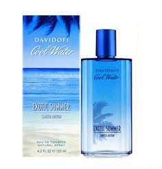 Cool Water Exotic Summer Cologne for Men by Davidoff EDT Spray 4.2 oz New in Box #Davidoff