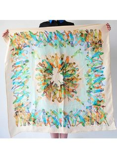 Pictures of POTIPOTI SILK SCARF PARROTS