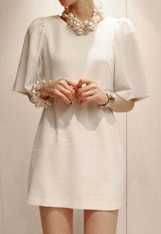 Beam Waist | Puff Sleeved Dress.  dresslily.com