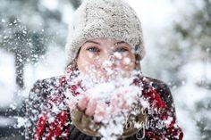 winter portrait photography ideas; snow photography ideas; portrait ideas